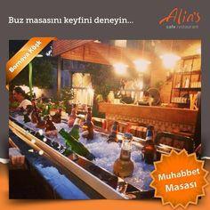Muhabbet uzasa ama içecekler hep buz gibi kalsa değil mi :) O zaman sizi Bornova Köşk'teki muhabbet masası ile tanıştıralım :) www.alins.com.tr #alins #bornovaköşk #muhabbetmasası #buzmasası