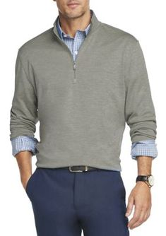 Van Heusen Men's Air Quarter Zip Pullover Shirt - Mllrd Ble - S Zip Sweater, Sweater Outfits, Men's Business Outfits, Formal Wear, Going Out, Van, Pullover, Industrial Style, Casual