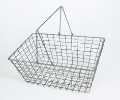 Ostoskori 40x25x18cm metallilankaa - Sisustus Fanny Verkkokauppa