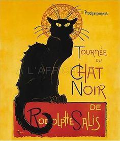 """""""la tournée du chat noir"""" poster"""