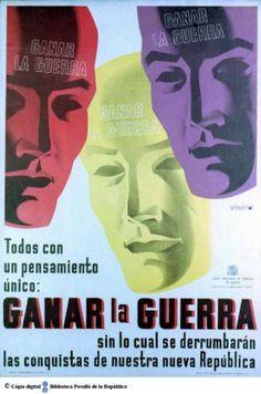 FB / Emeterio Melendreras(1905-1996) - Todos con un pensamiento único : ganar la guerra sin lo cual se derrumbarán las conquistas de nuestra nueva República. (1936?)