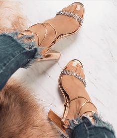 Rhinestone Design Gladiator Summer Party Fashion High Heels Sandals on Luulla Prom Heels, Pumps Heels, Stiletto Heels, Jeans Heels, Heeled Sandals, Sandals Outfit, Gladiator Heels, Flats, Gold Prom Shoes