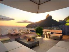 Chá da tarde com uma vista incrível no Rio