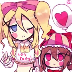 Toy chica and balloon girl