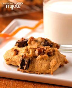 Hot chocolate in the West Indies - Clean Eating Snacks Pumpkin Recipes, Cookie Recipes, Dessert Recipes, Desserts, Chocolate Chunk Cookie Recipe, Chocolate Brownies, Baking Flour, Pumpkin Dessert, No Bake Treats