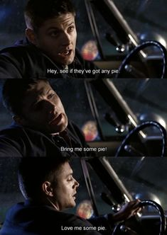 Pinning for two reasons, I love me some Jensen Ackles and I love me some pie.