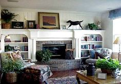 fireplace mantel and bookcase - Google Search
