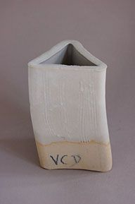 """VC """"D"""" Base Soda Feldspar – 51 Whiting - 19 Zinc Oxide – 9 EPK – 15 Silica – 6 A smooth, somewhat grayed, mat surface. May be made whiter by adding Zircopax or Tin Oxide. Other glazes work well over this glaze."""