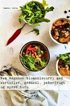 Ultimativ comfort food: Vegansk blomkålscurry med sprød tofu