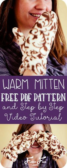 Wow this FREE mitten sewing pattern comes in sizes kid to adult. What a great DIY idea. They're double lined so you know they'll be warm. I love that this tutorial has a video too!