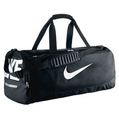 New Nike Team Training Max Air Large Duffel Bag Black Black White -- Check  out this great product. 5e6b88c361