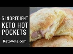 Keto Morning Hot Pockets with Ham and Cheese - YouTube