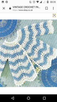 inspiration for making a striped sweater Crotchet Patterns, Crochet Cardigan Pattern, Baby Patterns, Knitting Patterns, Knit Crochet, Baby Girl Crochet, Crochet Baby Clothes, Crochet For Kids, Vintage Crochet