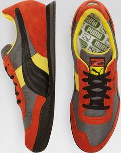 pretty nice 9d251 94fe7 Puma Lab II Gray and Orange Sneakers - Men s Shoes   Men s Wearhouse