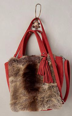 Plateau Faux-Fur Tote #anthrofave