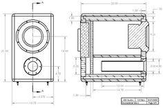 HiVi SP10 DIY Subwoofer Enclosure Drawing
