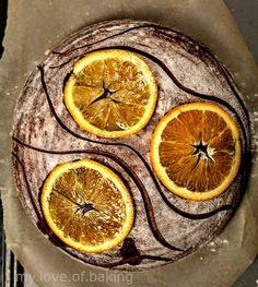 Cocoa  orange sourdough – myloveofbaking Orange Syrup, Orange Zest, Orange Slices, Rye Bread Recipes, Artisan Bread Recipes, Chocolate Dipped, Chocolate Flavors, Sourdough Rye, Bakers Gonna Bake