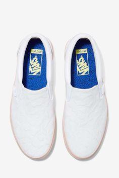 Nasty Gal x Vans Get Down Classic Leather Slip-On Sneaker - Flats   Vans