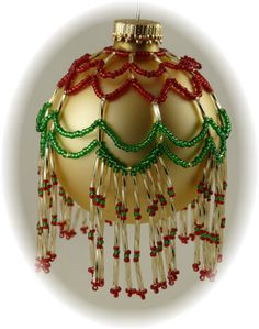 Free Beaded Christmas Patterns | Beaded Crystal Ornament Cover Patterns – Crystal Bead Designs by