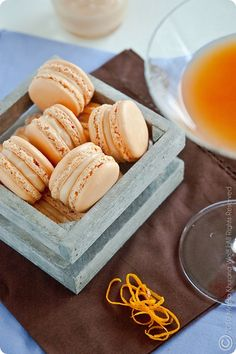 Campari Orange Grapefruit Macarons by MeetaK