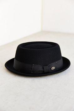 b5e34723d1c fashionable black Porkpie Hat Fadora Hats