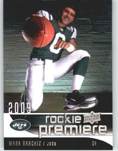 2009 Upper Deck Rookie Premiere Football Card #18 Mark Sanchez (RC) - New York Jets (Rookie Card) Mint Condition - In Protective Display Case! by Upper Deck. $8.99. 2009 NFL Rookies Trading Card!