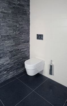 Black slate wall
