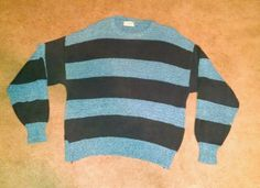 L.L. Bean Women's Blue Striped Sweater Size XL #LLBean #Crewneck