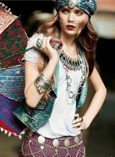 Boho, Bohemian, Gypsy, Hippie, Jewellery, Aztec, Tribal, Style, fashion, look, festival, necklace  Bohemian Australia: Archive #boho - #bohemian - ☮k☮