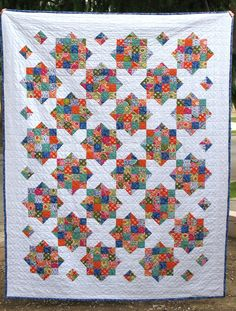 """This Arkansas Crossroads quilt is my new go to pattern. It is made up of two simple blocks - a 16 patch and an """"X"""". Combined, they create..."""