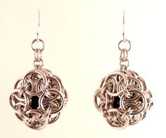 Celtic Cage Chainmaille Earrings