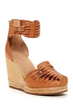 Rakona Leather Platform Wedge Huarache Sandal by Tommy Bahama on @nordstrom_rack