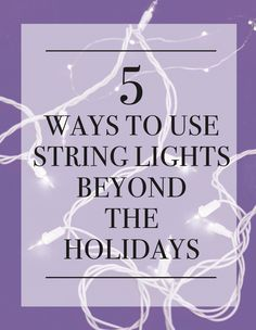 String / Fairy lights are a great way to add warmth and glow year round! Here's…