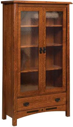 You'll save on every piece of furniture at Amish Outlet Store! We custom make every item, and you can get the Bel Aire 2 Door Bookcase in Q.S.…
