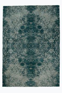 Matta med tryckt mönster som inspirerats av traditionella persiska mattor. Stl…
