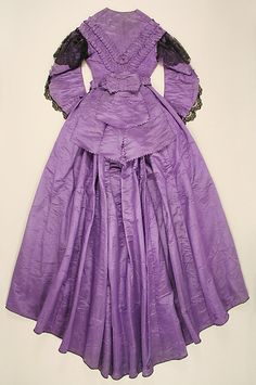Dress (image 2) | American | 1863 | silk, cotton | Metropolitan Museum of Art | Accession Number: 1982.82.5a–c