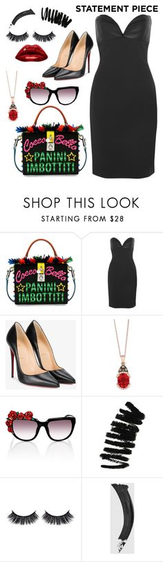 """""""It's all about the BAG!"""" by juliedebbas ❤ liked on Polyvore featuring Dolce&Gabbana, Brandon Maxwell, Christian Louboutin, LE VIAN, Anna-Karin Karlsson, Bobbi Brown Cosmetics, Battington, Gucci and statementcoats"""