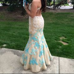 Rachel Allen prom dress The style number is: 6824. Obviously only worn once at my prom! It's a beautiful dress and is in desperate need of a new owner! Dresses
