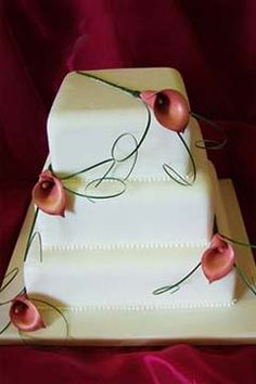 mango lily square cake Pictures, Images and Photos