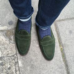 Some new green suede that I am about to start using on my footwear, shown here in a sample of the Madison (not readily available)
