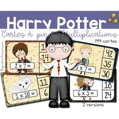 Harry Potter Multiplications - Cartes à pince - Cartes à clip - Clip cards - Classe Harry Potter - Harry Potter Classroom - Bopcornclassroom École Harry Potter, Harry Potter School, Harry Potter Classroom, Harr Potter, Math School, Teaching Math, Third Grade, Classroom Decor, Hogwarts