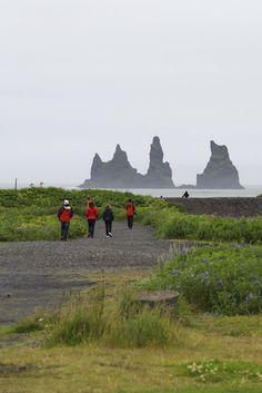 The three trolls aka Reynisdrangar cliffs in VÍK #IcelandChallenge Day 3  Read more here: http://tinyiceland.com/blog/category/iceland-challenge