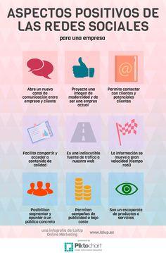 Infografía: 9 aspectos positivos de las redes sociales para una empresa #RedesSociales #infografía