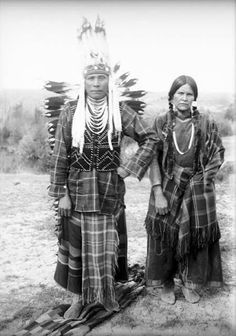 Joseph Lelps-to and his wife Louise - Flathead - 1906