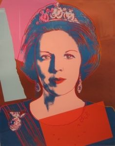 Andy Warhol - Queen Beatrix of The Netherlands, 1985 Andy Warhol : More @ FOSTERGINGER @ Pinterest