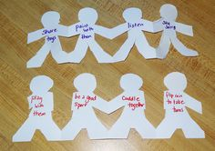 Paper Doll Craft for Book, How to Be a Friend by Laurie Krasny Brown (from Gift of Curiosity)