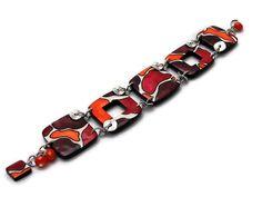 Bracelet pourpre et orange // bracelet de créateur // création française. de la boutique Chezpajope sur Etsy Creations, Boutique, Etsy, Orange, Personalized Items, Bracelets, Art, Purple, Unique Jewelry