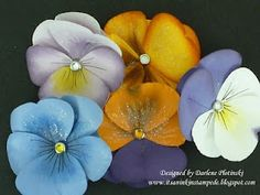 Paper pansies (video on how to make)