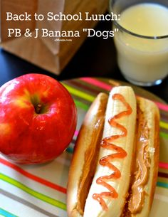 Peanut Butter and Jelly Banana Lunch Kid Friendly