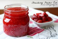 Strawberry-Freezer-Jam.....with strawberry season upon us, why wouldn't you want to try making freezer jam.
